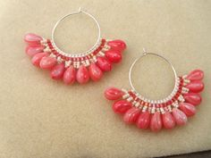 A free pattern to make a pair of fun brick stitch earrings using seed beads and chunky glass drops.: Gather Your Materials