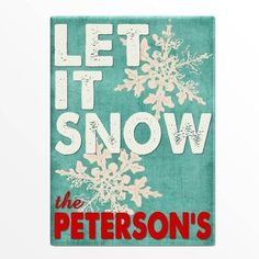 Personalized Holiday Canvas Signs - Canvas Prints