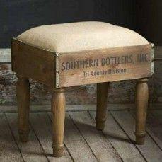 Crate Footstool   Wooden Footstool   Wooden Foot Rest
