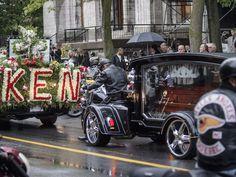 Bedard Funeral Hells Angels, Antique Cars, Bikers, Funeral, Image, Vintage Cars