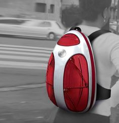 "cool: ""Exoskeleton Design Backpack for IDI"" red and white for mobile lifestyle 