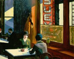 Two women in a restaurant - love this painting (Chop Suey, 1929) by Edward Hopper.