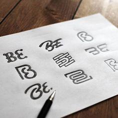 Beautiful logo sketches by @bbquearen.  #StrengthInLetters #Goodtype