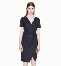 SONAR WOOL DRAPE DRESS