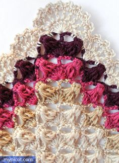 @ MyPicot - Free crochet pattern for triangle shawl. // THIS ONE TOO!!! ♥A