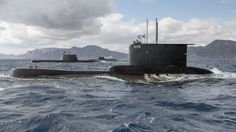Greek Type 209 submarine HS Poseidon,Portuguese Type 214 NRP Tridente and German Type 212 take part in exercise 'Noble Justification'. Portugal, Military Gear, Army & Navy, Yellow Submarine, Navy Ships, Us History, Greek, Scale, Boat