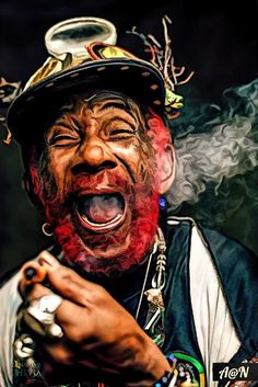 Reggae Month- The Legends: Lee Scratch Perry Reggae Rasta, Rasta Art, Reggae Music, African American Artist, African Art, Soul Artists, Music Artists, Lee Perry, Gothic 1