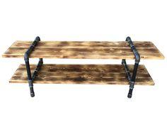 Έπιπλο τηλεόρασης - βιομηχανικό στυλ - Ξύλο Μέταλλο - Σωλήνες - πατίνα - Ράφια   Industrial tv table - wood and metal pipes - handcrafted -Lampadari