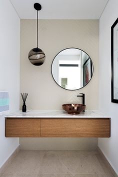 Opulent finishes in a bathroom design by Urbane Projects. Stone Flooring, Coastal, Mirror, Bathroom, Interior, Projects, Furniture, Design, Home Decor