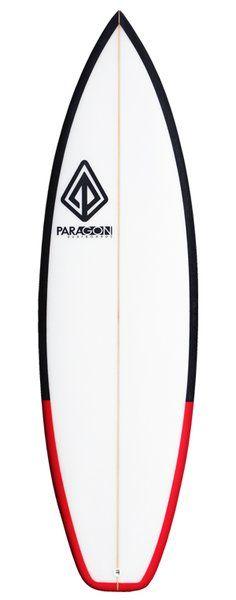 "Paragon Weed Wacker 5'11"" Black/Red Rail Surfboard"