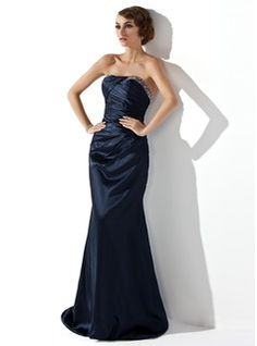 Special Occasion Dresses - $146.99 - Trumpet/Mermaid Strapless Sweep Train Charmeuse Evening Dress With Ruffle Beading  http://www.dressfirst.com/Trumpet-Mermaid-Strapless-Sweep-Train-Charmeuse-Evening-Dress-With-Ruffle-Beading-017002275-g2275