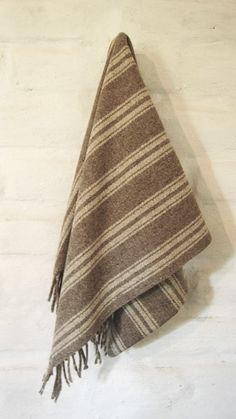 Top Drawer Blanket/In Line/Pure Virgin Wool by mexchic on Etsy