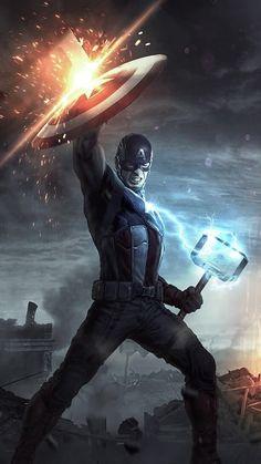 Captain America Mjolnir 4k Wallpapers | hdqwalls.com