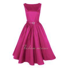 2013 New Colorful Women 50s Audrey Sleeveless Rockabilly Evening Hepburn Dresses   eBay