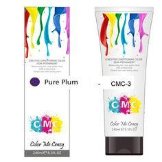 CMC SEMI-PERMANENT HAIR COLOUR – PURE PLUM (240ml) – Glitter Box Beauty
