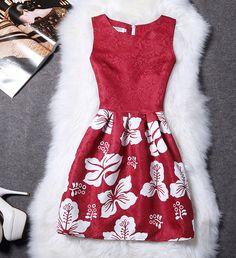 2XL New Brand Spring Summer Plus Size Women Print Floral Vest Dress Sleeveless A Line Party Fashion Dresses Vestido De Festa Hot