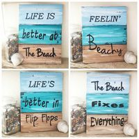 Wooden Beach Signs Decor Amazing Vintage Wooden Beach Signs  Beach Decor Wooden Beach Sign Shabby Decorating Design