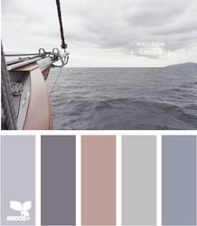 escape tones. a grey based pallet that evokes the calm of the sea...