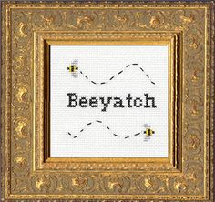 """beeyatch"" by Subversive Cross Stitch"