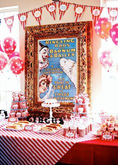 Vintage Circus Birthday Party Kit Large by talove on Etsy, $50.00