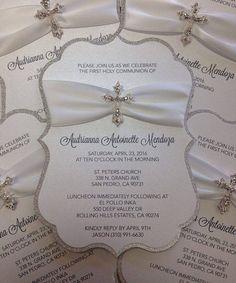 Invitaciones de confirmación de la invitación de bautizo del invitación de bautismo de la invitación de comunión cruzan invitación invitación religiosa brillo invitan