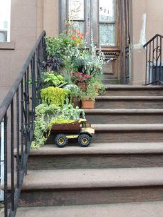 Love the Tonka Truck as a planter!