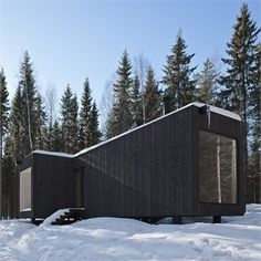 Four-cornered villa - Virrat, Finland - 2010 - Avanto Architects #architecture #finland #snow #mountain