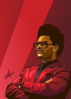 "Beautiful ""The Weeknd "" metal poster created by PAUL DRAW. Our Displate metal prints will make your walls awesome. The Weeknd Merch, The Weeknd Poster, The Weeknd Drawing, The Weeknd Wallpaper Iphone, Abel The Weeknd, Dope Cartoon Art, Rapper Art, Hip Hop Art, Celebrity Drawings"