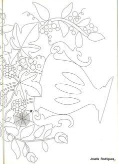 (206) Gallery.ru / Фото #30 - 6 - svet1313 Hand Applique, Applique Quilts, Embroidery Applique, Embroidery Patterns Free, Zentangle Patterns, Quilt Patterns, Wool Quilts, Medallion Quilt, Applique Templates