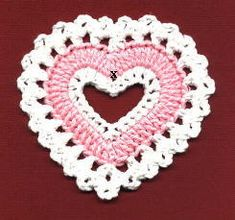Valentine Coaster     by Priscilla Hewitt ©2000  Would also make a great ornament for the tree.