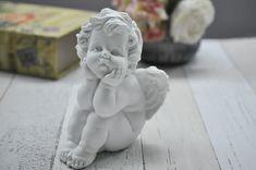 Sitting Angel A Angel figurine angel sculpture Cherub Tattoo, Human Poses Reference, Angel Sculpture, Goddess Art, Japan Post, Classical Art, Angel Art, Art Object, Cupid