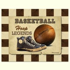 vintage sports nursery pictures with quotes | vintage basketball canvas giclee prints for baby boy nursery decor