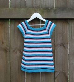 A simple summer tee improvised to use up yarn and make a wee girl smile.