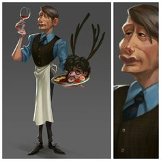 Never play with your food if you are not #Hannibal  #lecter  #food #characer #characterdesign  #man #animation  #visdev #doctorlecter #lecter #personality  #pose #gesture  #psychologist  # MasterChief #chief # trash #  aesthetics #draw #art #artist #pers #blood #willgraham  #dish #dinner #backlight