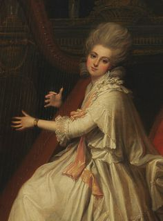 Richard Cosway. Detail from Portrait of Marianne Dorothy Harland, Later Mrs. William Dalrymple.