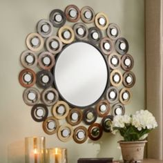 Dots Mirror | Kirkland's-entry over table?