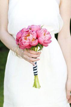 Preppy Pink + Navy wedding inspiration