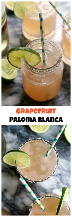 Sweet, tart, refreshing and delicious is what these grapefruit paloma blanca wine cocktails are! Perfect for serving on a warm summer day.