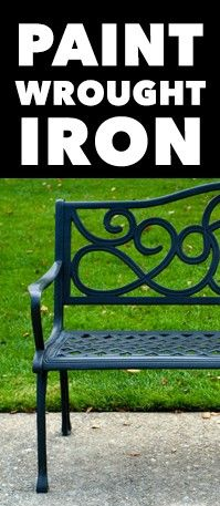 How to paint wrought iron