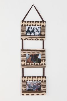 4x6 Ikat Triple Picture Frame  I could totes make this! New craft idea!!