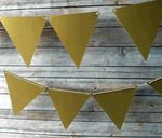 Dont forget our solid color triangle pennant banner! This would look lovely with your string lights and paper lanterns too!