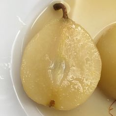 Pears poached in white wine. A dessert. Pears, White Wine, Catering, Thanksgiving, Events, Fruit, Desserts, Food, Kitchens
