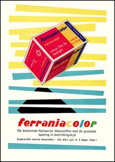 Vintage Ferraniacolor 35mm film ad