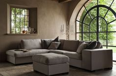 Sofa at home Best Interior, Interior And Exterior, Interior Design, Beautiful Space, Beautiful Homes, Couch U Form, Living Spaces, Living Room, Home Decor Furniture