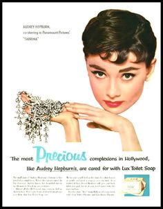 Image detail for -Old Ads and Mags! - hollyhocksandtulips: Audrey Hepburn for Lux soap