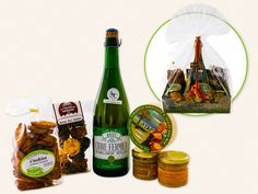 Panier Garni Normand - Mes Produits Ma Région Normand, Drinks, Bottle, Food, Gift Baskets, Home, Drinking, Beverages, Flask