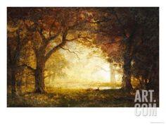 Forest Sunrise Giclee Print by Albert Bierstadt at Art.com