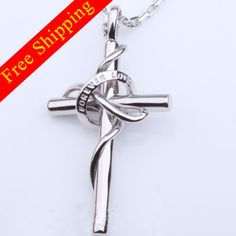 Personalized Cross Necklacesterling silver by nameJewelry on Etsy