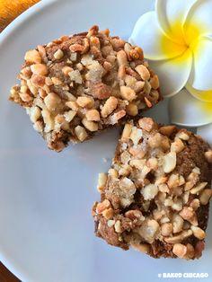 Salted Caramel-Macadamia Nut Gingerbread Brownies