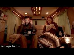 Converted van as full-time home for nomadic Canadian couple - YouTube